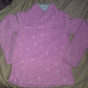 Girls pink pullover sweater size M(7-8)